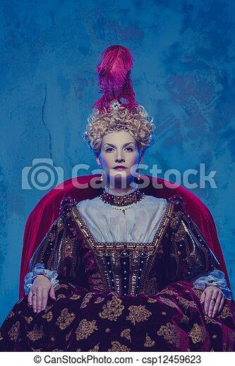 Su alteza real sentada en el trono - csp12459623