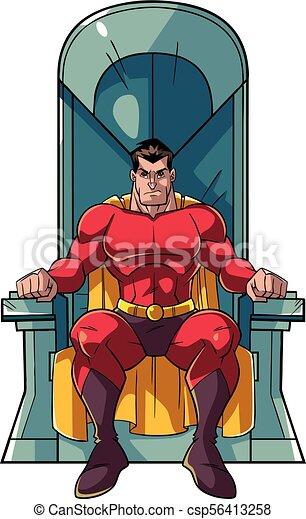 trono, superhero - csp56413258