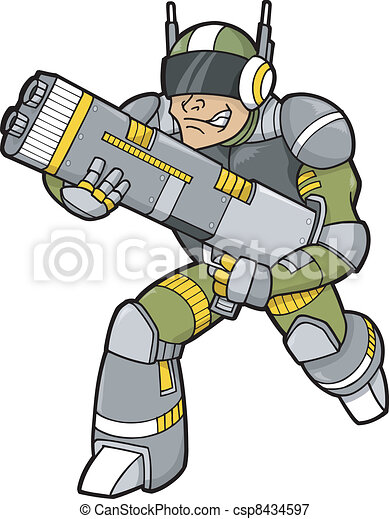 trooper, vector, illustratie ruimte - csp8434597