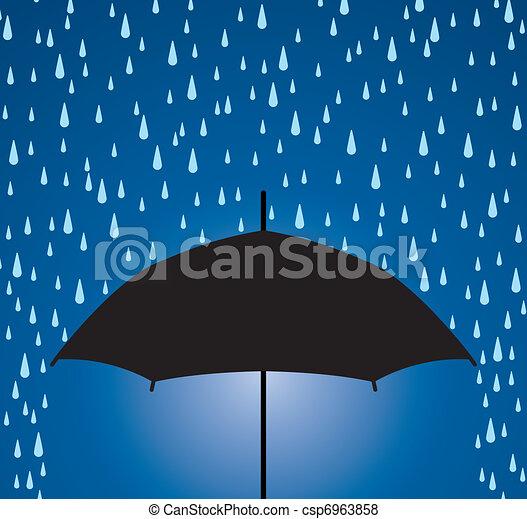 Regenschirmschutz vor Regentropfen - csp6963858