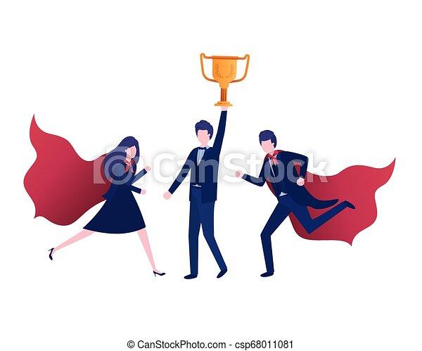 trophée, caractère, groupe, avatar, business - csp68011081
