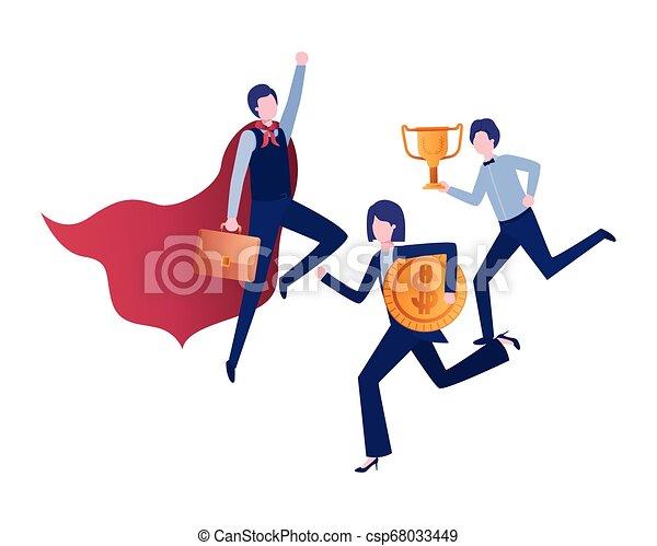 trophée, caractère, groupe, avatar, business - csp68033449