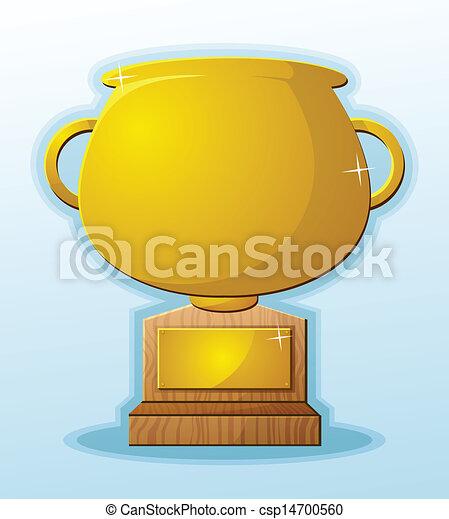 Trophy Blank Cartoon Prize Reward - csp14700560