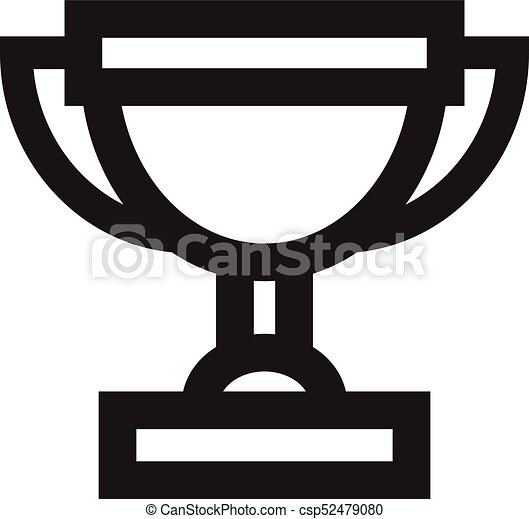 Trophy Icon Simple Vector Award