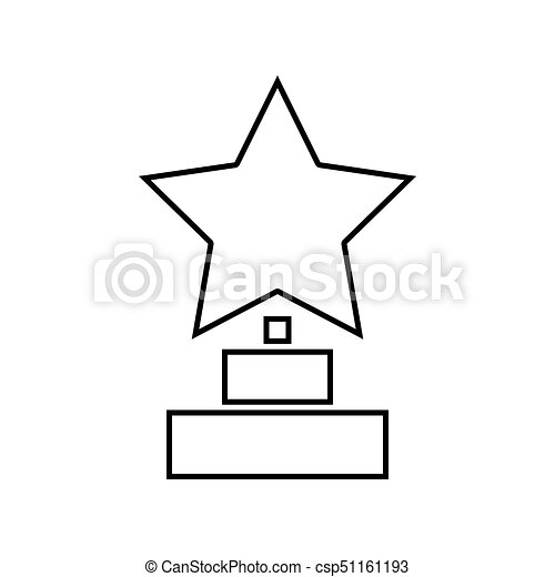 Trophy Star Winner Award It Is Black Icon Simple Style