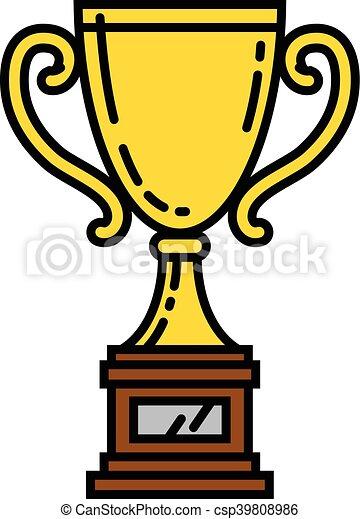 Trophy vector illustration - csp39808986