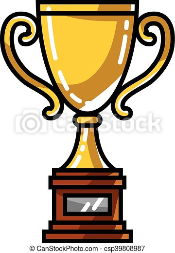 trophy vector illustration vector search clip art illustration rh canstockphoto com clipart trophy clipart trophy black and white