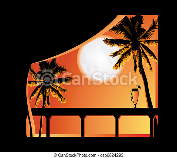 tropic, 夜 - csp6824293