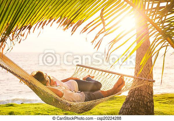 tropicais, par, rede, relaxante - csp20224288