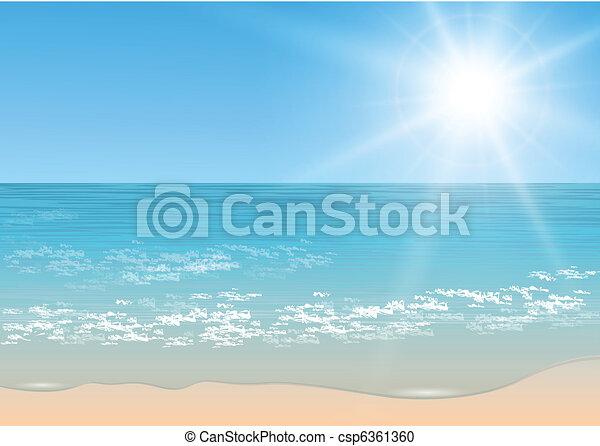 tropicais, vetorial, sea. - csp6361360