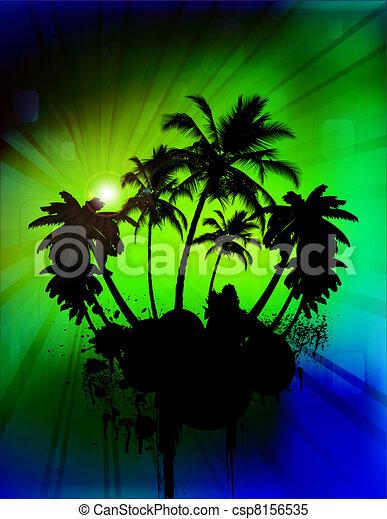 Palmeras tropicales - csp8156535