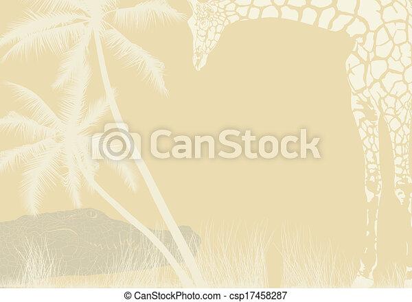 Tropical animal background - csp17458287
