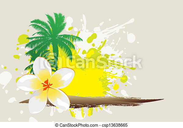Tropical background - csp13638665