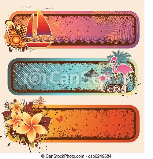 Pancartas tropicales listas - csp6249684
