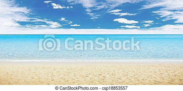 Tropical beach and ocean - csp18853557