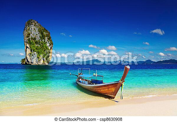 Tropical beach, Andaman Sea, Thailand - csp8630908