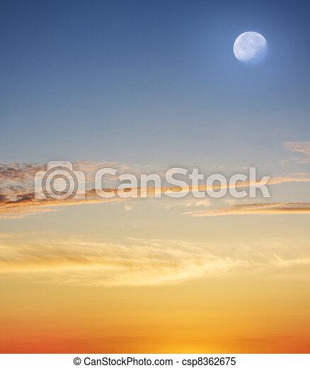 Tropical beach at beautiful sunset. - csp8362675