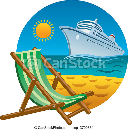 Tropical beach icon.