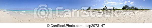 Tropical beach panorama - csp2073147