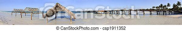 Tropical beach panorama - csp1911352