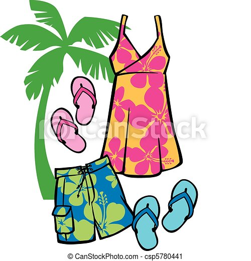 tropical beachwear vector illustration of articles of vector rh canstockphoto com tropical clipart free tropical clipart png