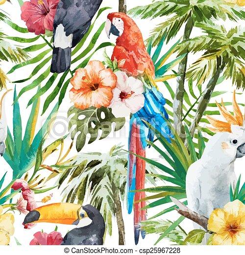 Tropical birds - csp25967228