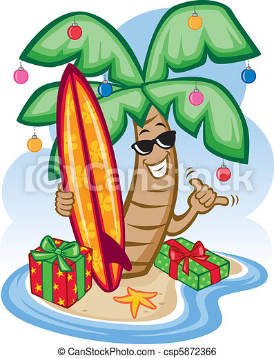 tropical christmas vector illustration of a tropical palm clip rh canstockphoto com christmas party food clipart christmas party food clipart
