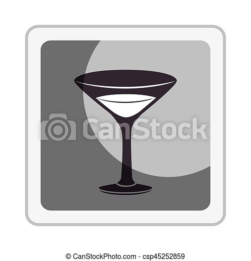 tropical cocktail drink icon - csp45252859