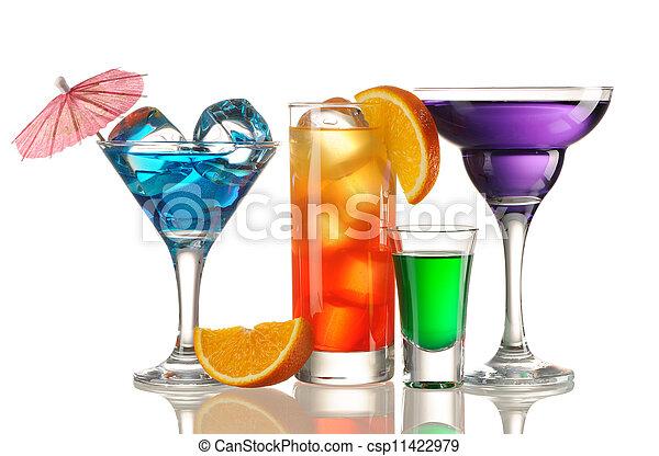 Tropical cocktails - csp11422979