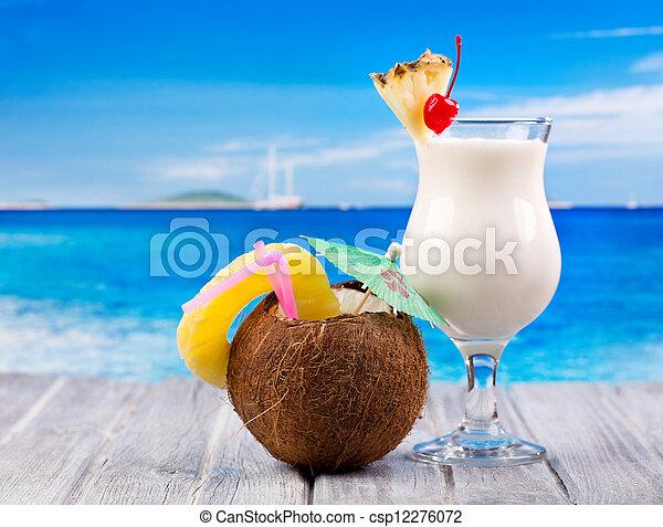 tropical cocktails - csp12276072