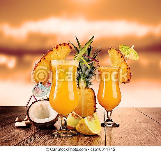 Tropical cocktails - csp10011745