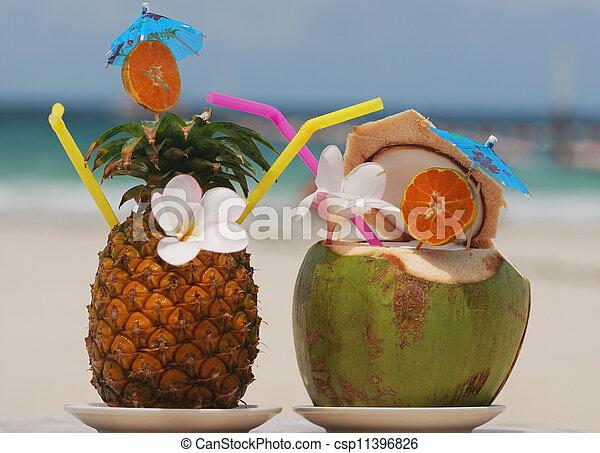 Tropical cocktails - csp11396826