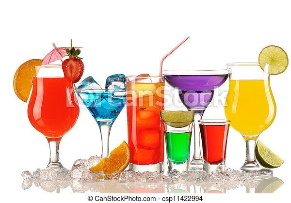 Tropical cocktails - csp11422994