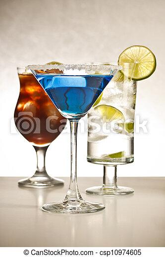 Tropical cocktails - csp10974605