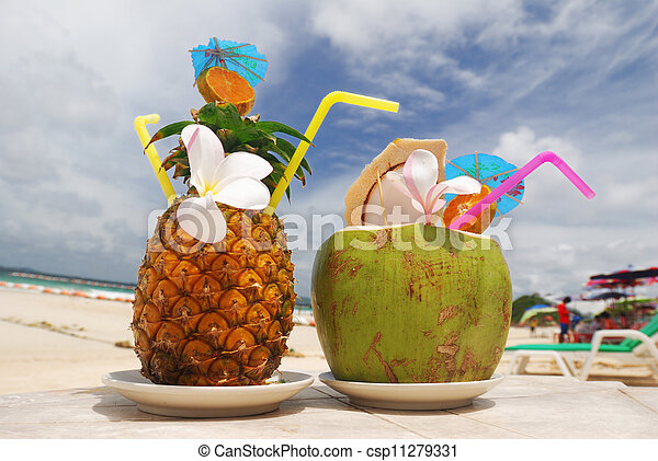 Tropical cocktails - csp11279331