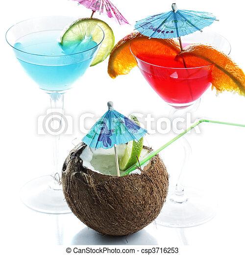 Tropical cocktails - csp3716253