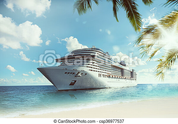 Tropical cruise voyage - csp36977537