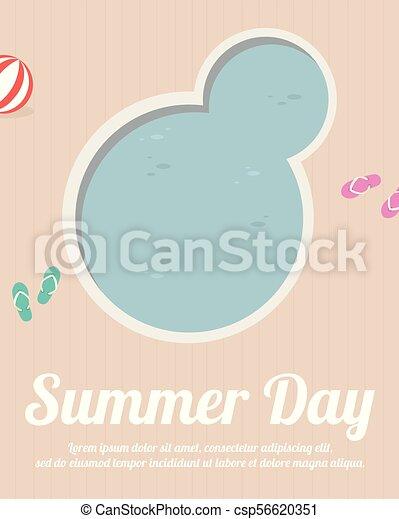 Vacaciones de verano y vacaciones tropicales - csp56620351