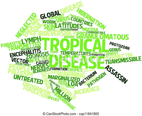 abstract word cloud for tropical disease with related tags and terms
