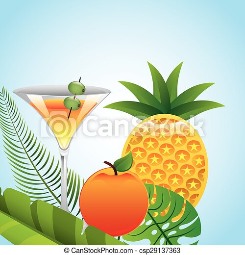 tropical drink  - csp29137363