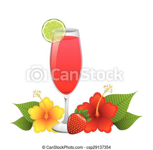 tropical drink  - csp29137354