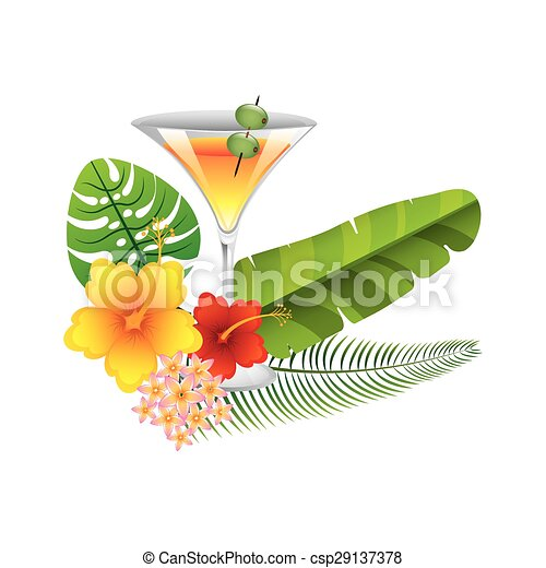tropical drink  - csp29137378