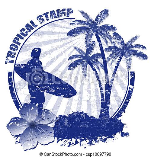 Estampilla tropical - csp10097790