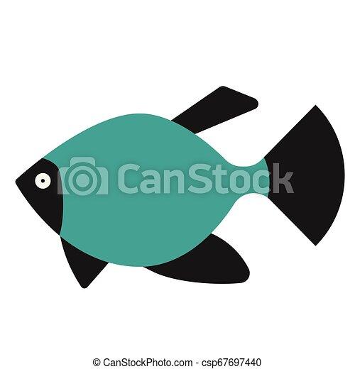 tropical fish flat illustration on white - csp67697440