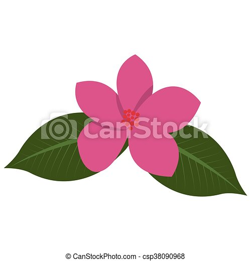 Flat design pink tropical flower icon vector illustration clip art tropical flower icon csp38090968 mightylinksfo Choice Image