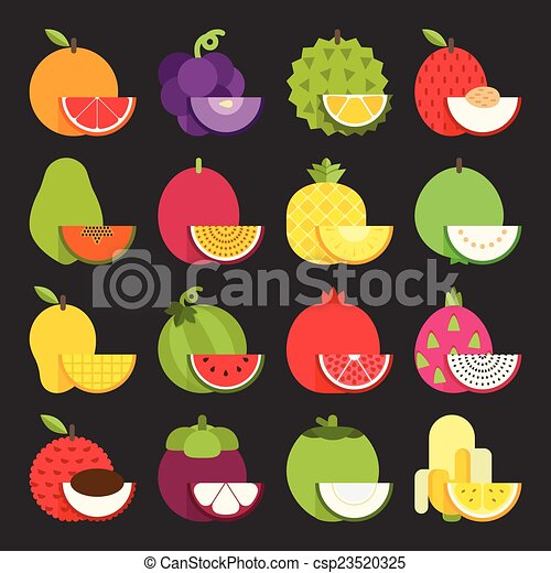 Tropical fruit icon - csp23520325