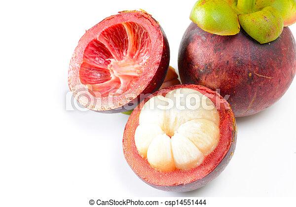 Tropical fruit mangosteen - csp14551444