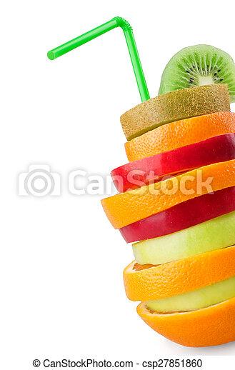 tropical, fruta mezclada - csp27851860