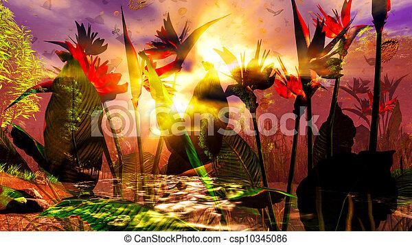 Tropical garden - csp10345086