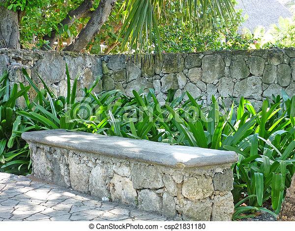 tropical garden - csp21831180